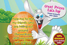 Easter Bunny Hunt Easter Saturday 11th to Monday 13th April